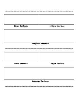 Compound Sentences: A Graphic Organizer