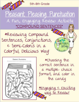 Compound Sentences Activity-Pleasant Pleasing Punctuation