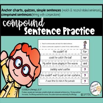 Compound Sentences... Practice, Sorts & Assessments