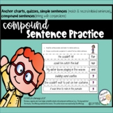 Compound Sentences Practice, Sorts, & Quizzes with coordin