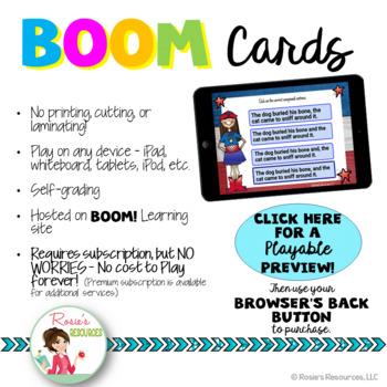 Compound Sentences Boom Cards