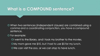 Compound Sentences (But/Or/And) Game Review