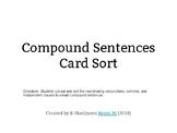Compound Sentences Card Sort
