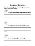 Compound Sentences (Conjunctions) Common Core