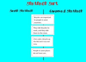 Compound Sentences & Conjunctions lesson