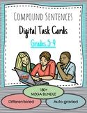 Compound Sentences DIGITAL Boom! Task Card Mega Bundle - Literature Based