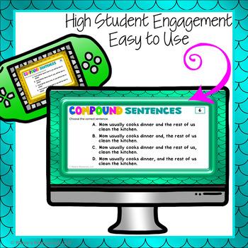 Compound Sentences Digital Task Cards