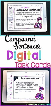 Compound Sentences Activity: 2nd Grade Google Classroom Distance Learning