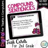 Compound Sentences Task Cards: 2nd Grade Grammar for Googl
