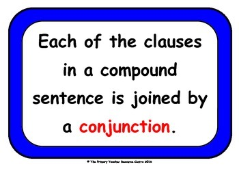 Compound Sentences Display Poster Pack