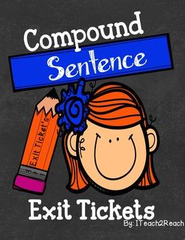 Compound Sentences Exit Tickets