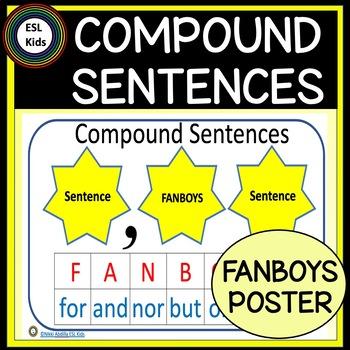 Compound Sentences - FANBOYS poster