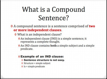 Compound Sentences: Identify and Write Them (PowerPoint)