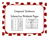 Compound Sentences Interactive Notebook Pages
