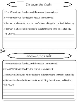 Compound Sentences Lesson/Activity Grade 6 CCSS Knowledge of Language