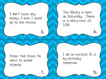Compound Sentences Mini Posters and Task Cards
