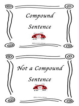 Compound Sentences Or Not Compound Sentences