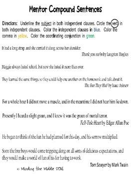Compound Sentences : Part I
