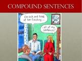 Compound Sentences PowerPoint lesson with quiz
