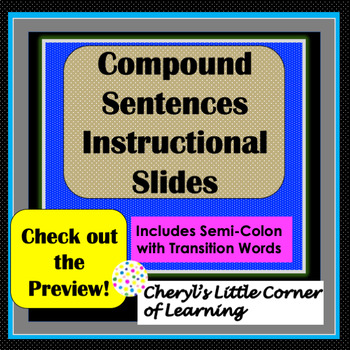 Compound Sentences Presentation Notes