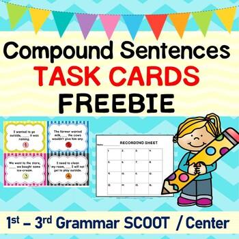 Compound Sentences Grammar SCOOT or Task Cards