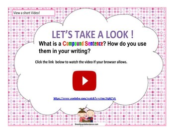 Compound Sentences Smartboard Lesson and Activity
