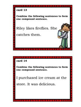 Compound Sentences Task Cards