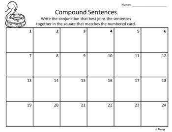 Compound Sentences ~ Task Cards