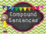 Compound Sentences Task Cards & Printables