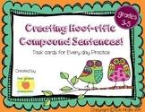 Compound Sentences Task Cards, Sentence Structure Practice