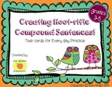 Compound Sentences Task Cards, Sentence Structure Practice
