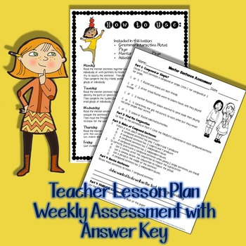 Compound Sentences: The Next Step- Mentor Sentence Weeklong Plan