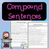 No-Prep Compound Sentences Worksheet