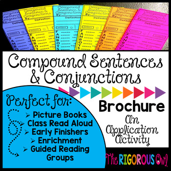 Compound Sentences and Conjunctions Brochure Tri-fold