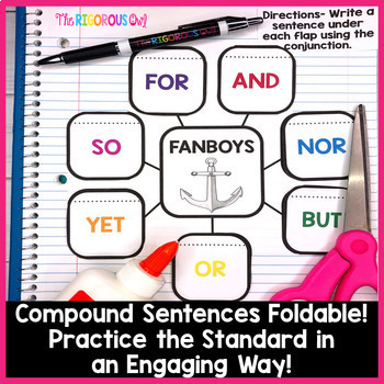 Compound Sentences and Conjunctions Week Long Lessons! Common Core Aligned L4.2c