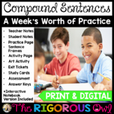 Compound Sentences and Conjunctions Lesson with a Week's W