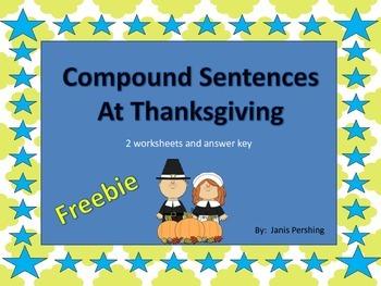 Compound Sentences at Thanksgiving