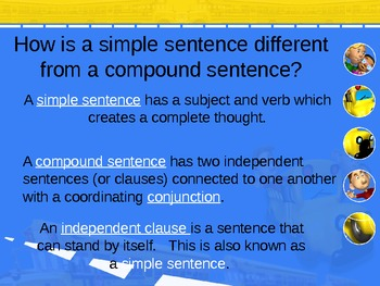 Compound Sentences fun powerpoint