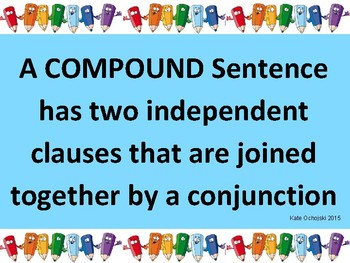 Compound Sentences poster