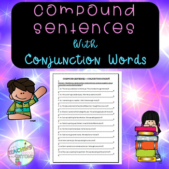 No-Prep Compound Sentences with Conjunction Word