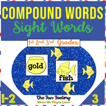 Sight Words, Compound Words Literacy Centers Differentiated Activities {1st-3rd}