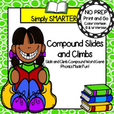 Compound Slides and Climbs:  NO PREP Compound Word Game