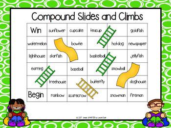 Compound Slides and Climbs:  NO PREP Compound Word Game