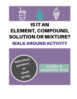Compound, Solution or Mixture Walk Around Activity