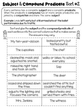 Compound Subject Compound Predicate