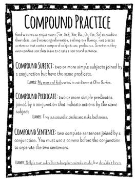 Compound Subject, Compound Predicate, and Compound Sentence Bundle