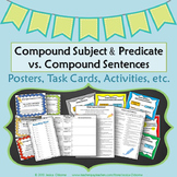 Compound Subject & Predicate vs. Compound Sentences {Sentence Structure}