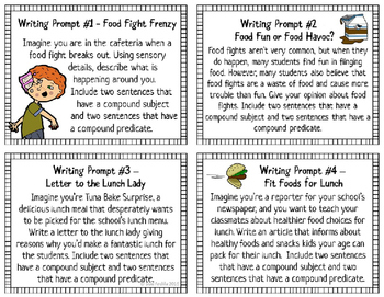 Compound Subjects and Predicates Task Cards