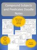 Compound Subject and Predicate doodle notes
