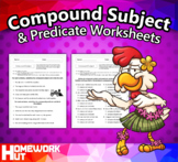 Distance Learning - Compound Subject and Predicate Worksheets